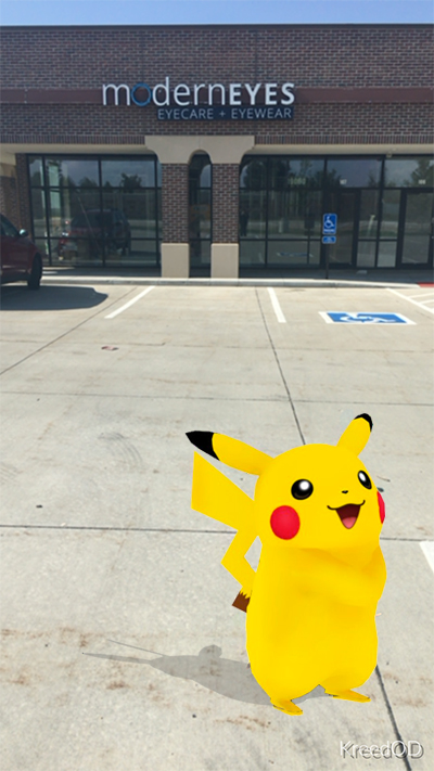 Pikachu in front of the ModernEyes office!