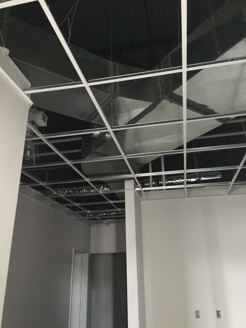 Drop Ceiling Grid in Back Office