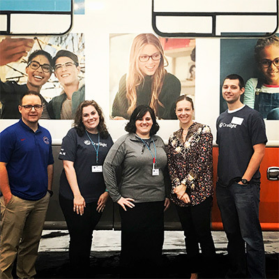 Eye Doctors (Optometrists) in front of OneSight RV in Omaha