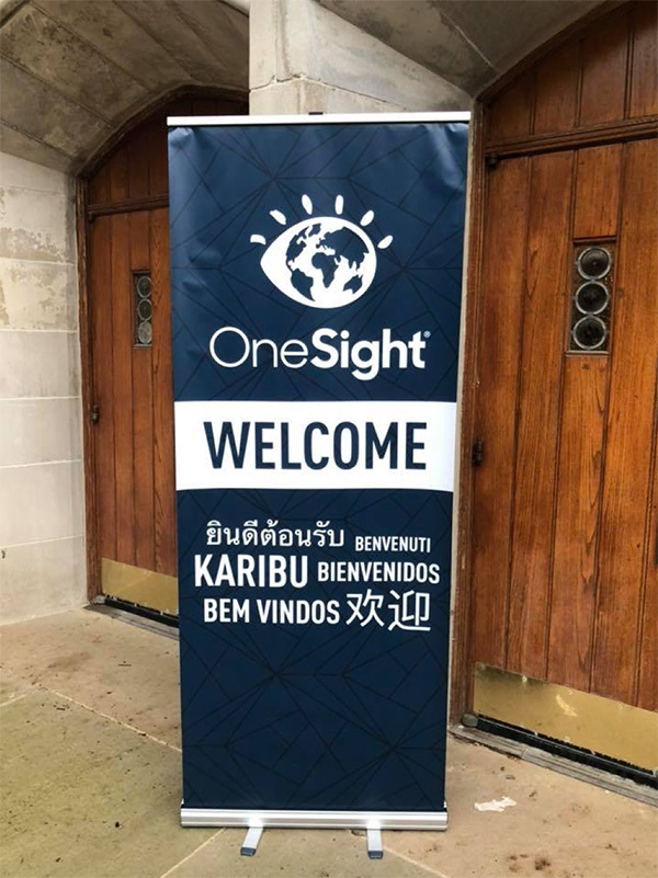 OneSight Omaha Clinic 2018 Welcome Sign in Many Languages